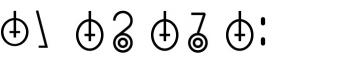 Keihan punctuation marks.